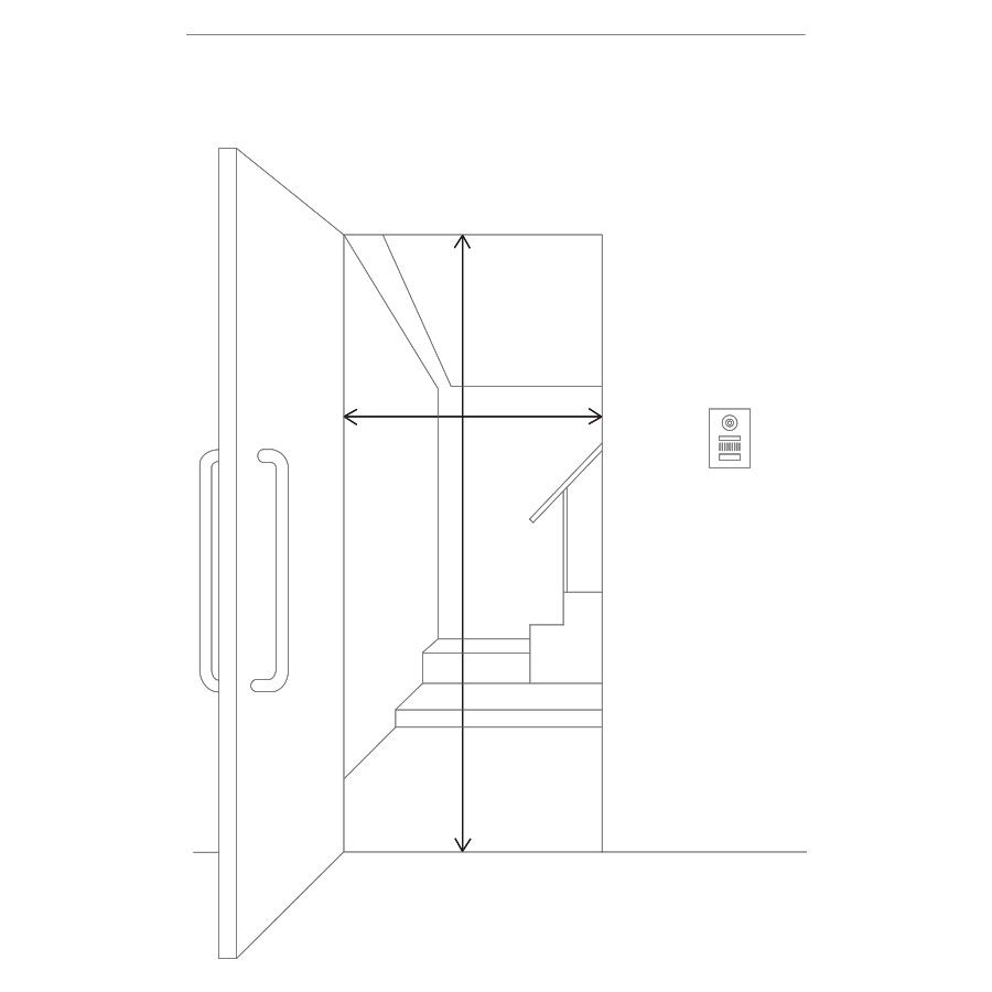 図:玄関の幅・高さ