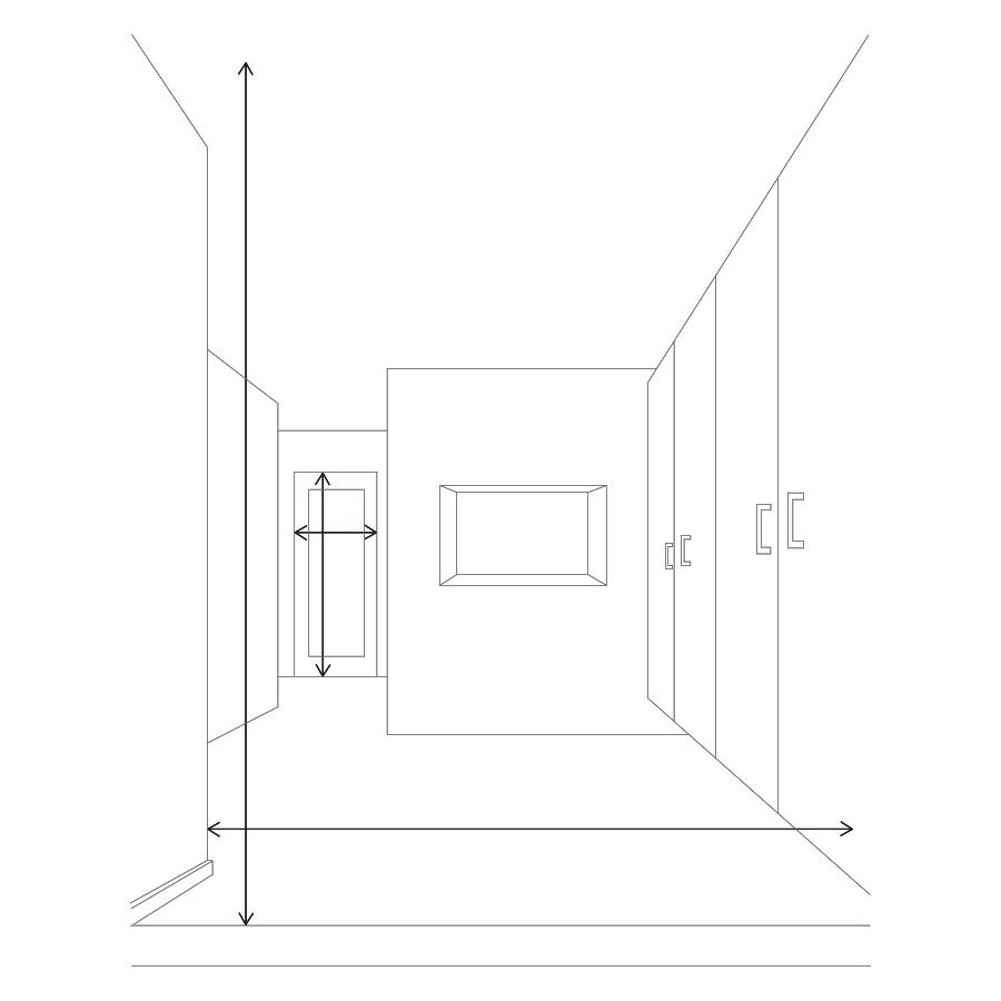 図:廊下の幅・高さ