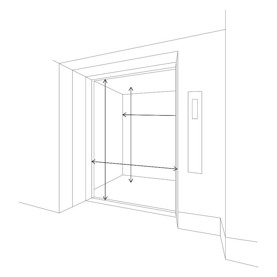 図:エレベーターのサイズ